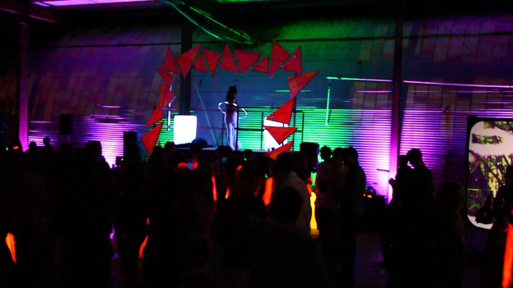 Mai Tai party with our signature video mapped DJ arch